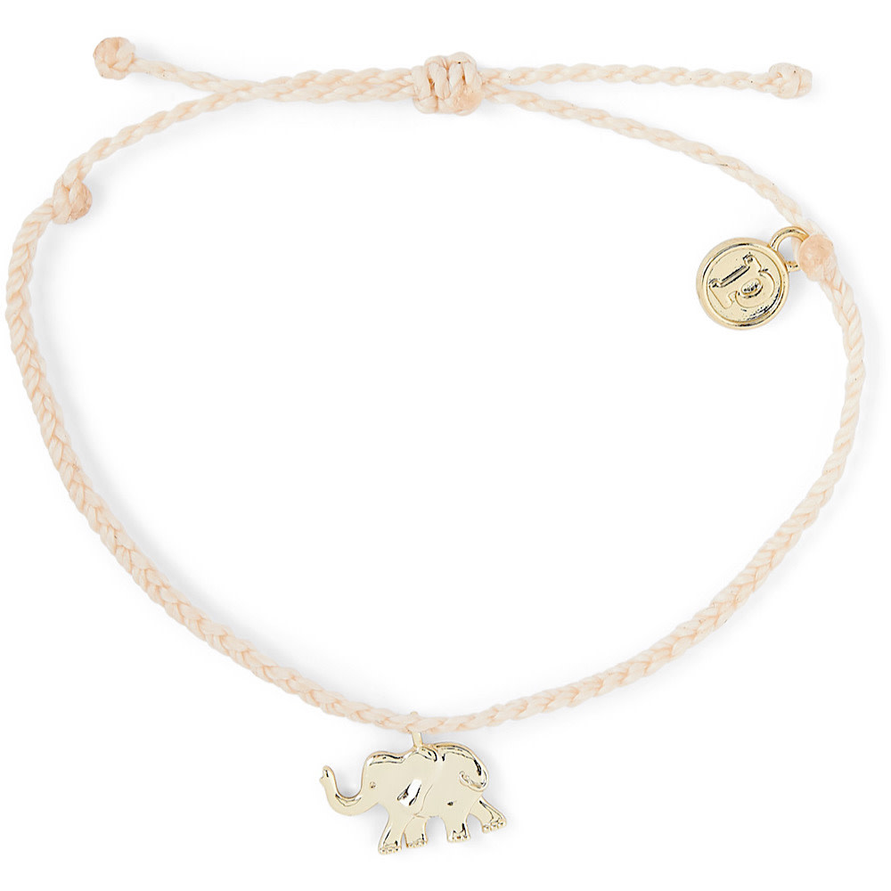 Pura Vida Charm Bracelet Gold Elephant/Vanilla