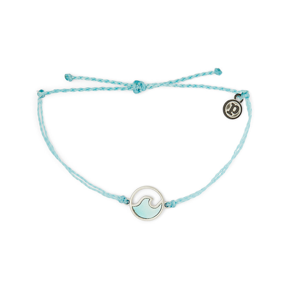 Pura Vida Pura Vida Stone Wave Bracelet - Silver/Crystal Blue