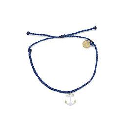 Pura Vida Pura Vida Anchors Away Bracelet - Gold Anchor - Indigo