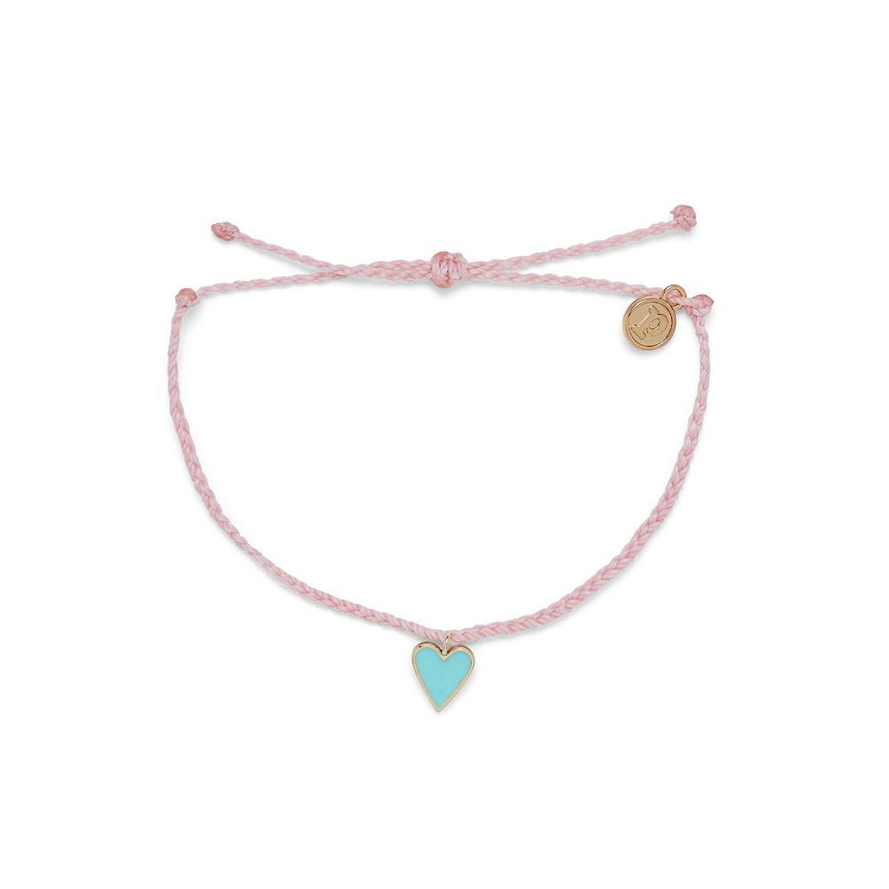 Pura Vida Petite Heart Bracelet - Gold/Baby Pink
