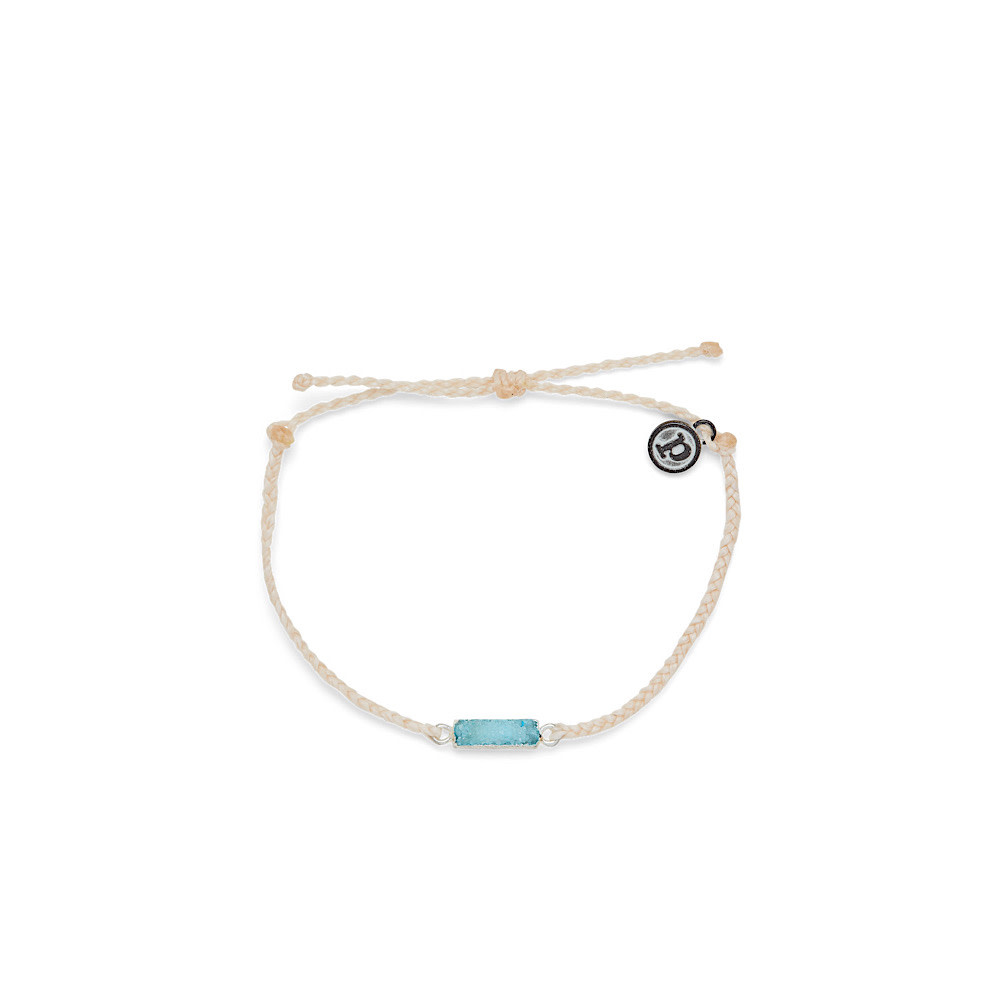 Pura Vida Pura Vida Druzy Bracelet - Silver/Vanilla
