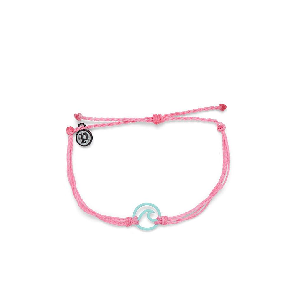 Pura Vida Enamel Wave Bracelet - Aqua/Light Pink