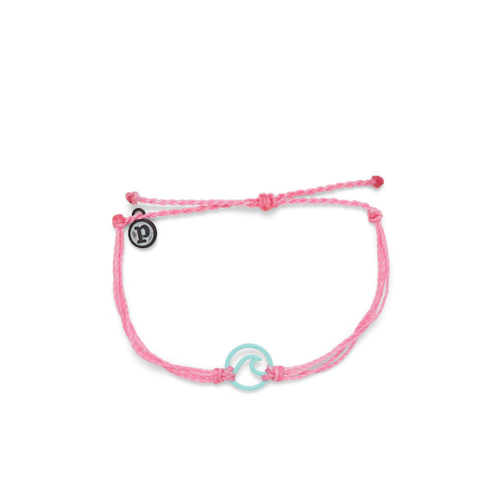 Pura Vida Pura Vida Enamel Wave Bracelet - Aqua/Light Pink