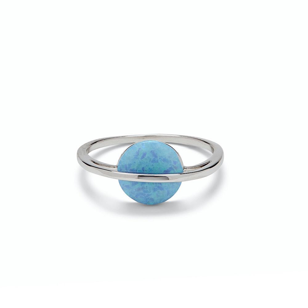 Pura Vida Opal Saturn Ring - Silver
