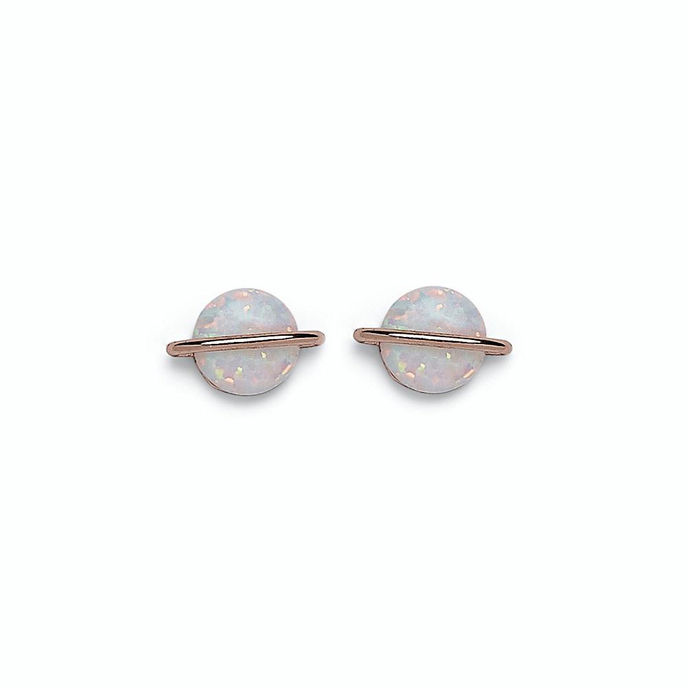 Pura Vida Opal Saturn Stud Earring - Rose Gold