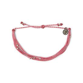 Pura Vida Pura Vida Bracelet Malibu - Silver/Blossom Pink