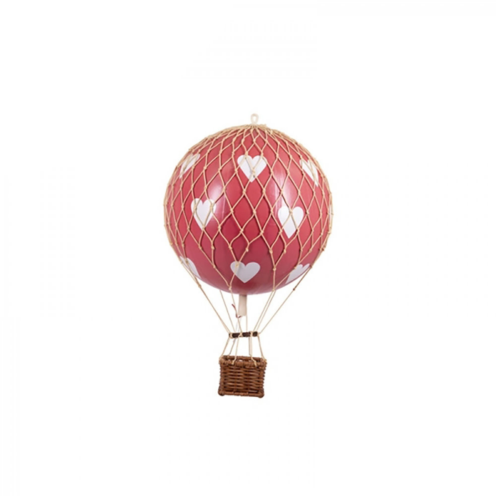 Authentic Models Hot Air Balloon - Floating The Skies 8.5cm - Red Hearts