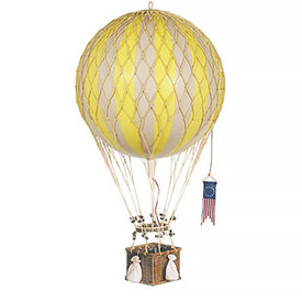 Authentic Models Hot Air Balloon - Decorative Balloon 32cm - Yellow