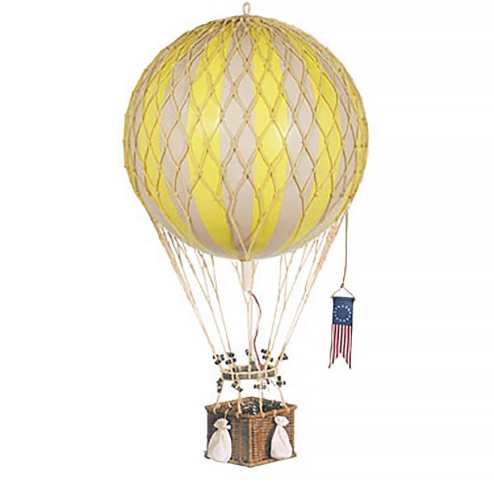 Hot Air Balloon - Decorative Balloon 32cm - Yellow