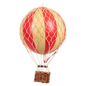 Authentic Models Hot Air Balloon - Floating in the Skies 8.5 cm - Red Double Balloon