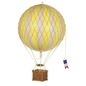 Authentic Models Hot Air Balloon Travels Light - True Yellow - 30 cm