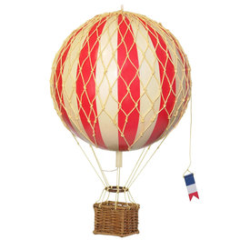 Authentic Models Hot Air Balloon Travels Light - True Red - 30 cm