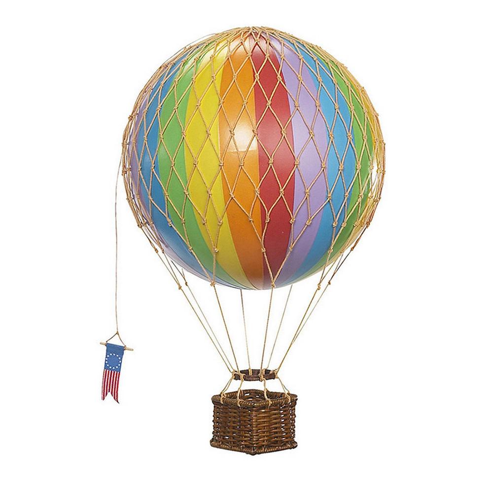 Authentic Models Hot Air Balloon Travels Light - Rainbow - 30 cm