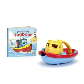 Green Toys Green Toys Tug Boat and Board Book Set