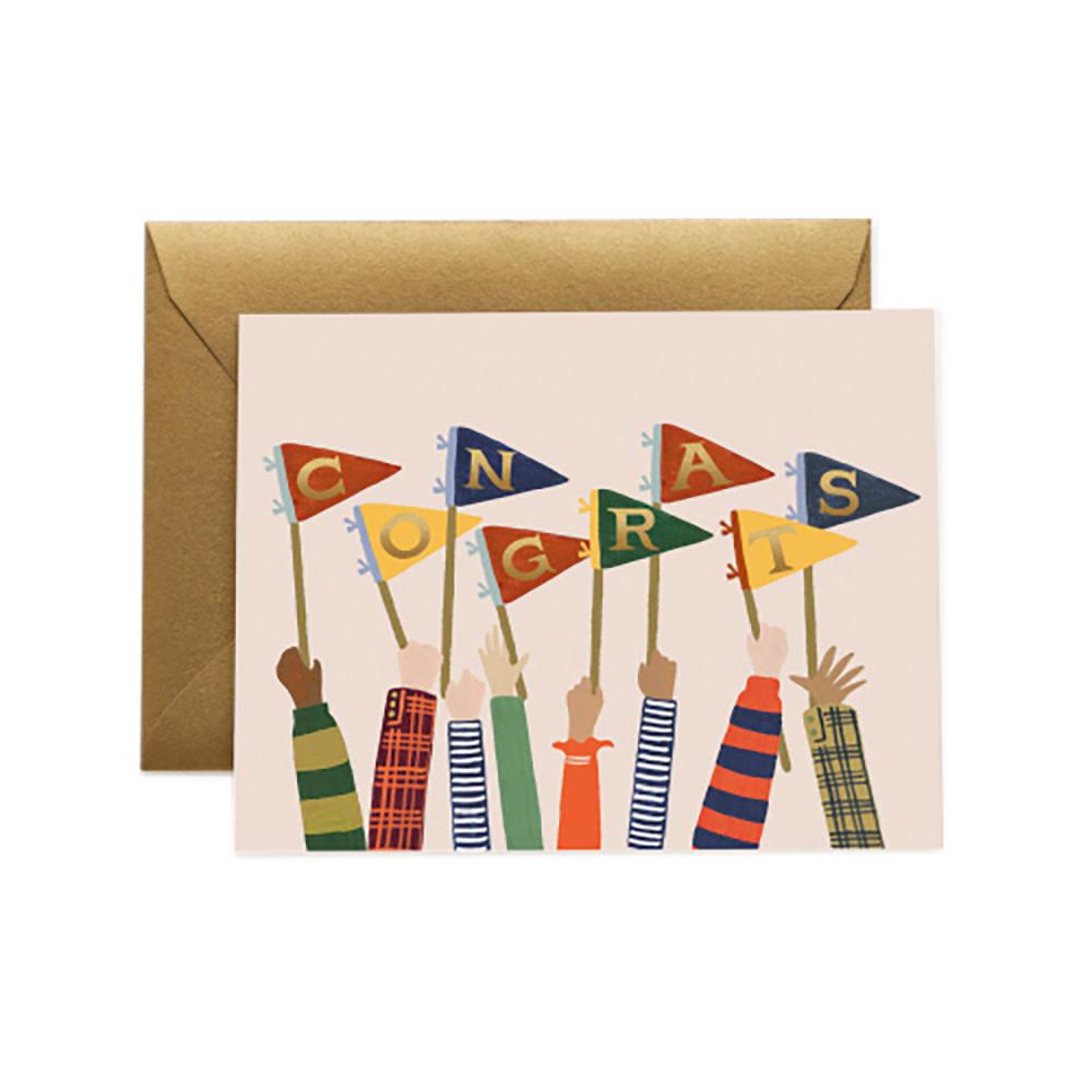 Rifle Paper Co. Card - Congrats Pennants