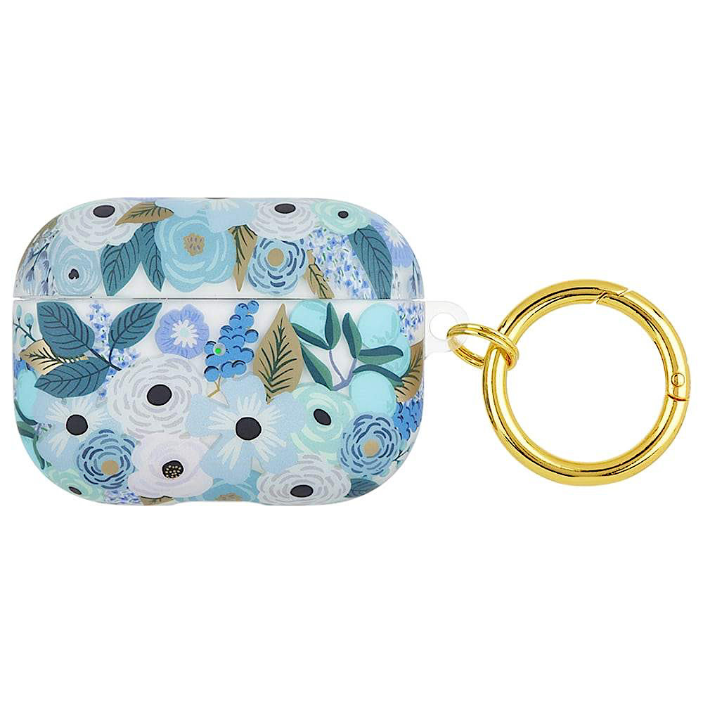 Rifle Paper Co. Rifle Paper Co. AirPod Pro Case - Clear Garden Party Blue