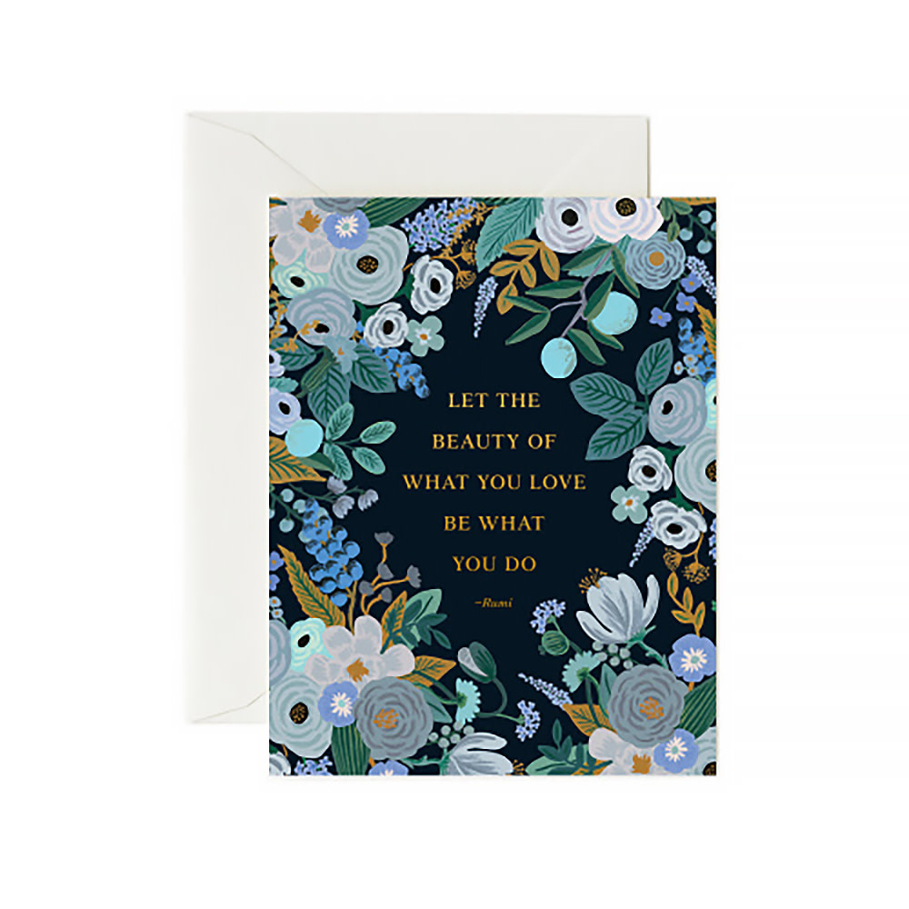 Rifle Paper Co. Card - Rumi Quote