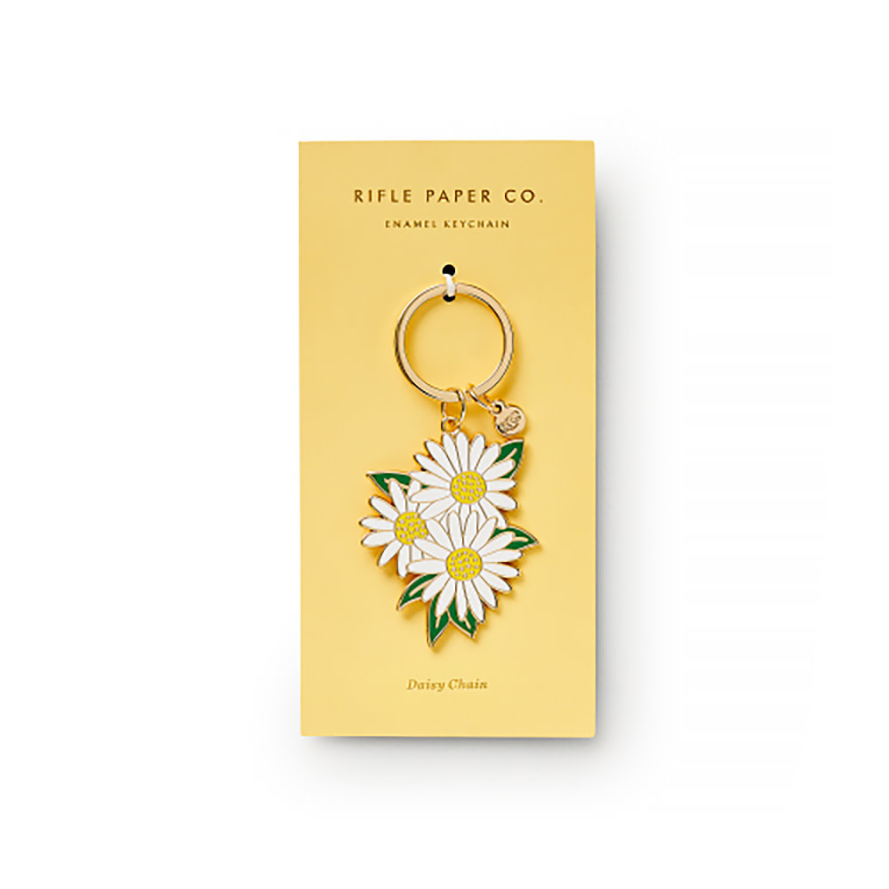 Rifle Paper Co. Rifle Paper Co. Daisies Enamel Keychain