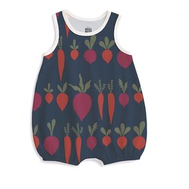 Winter Water Factory Winter Water Factory Bubble Romper - Root Vegetables Night Sky