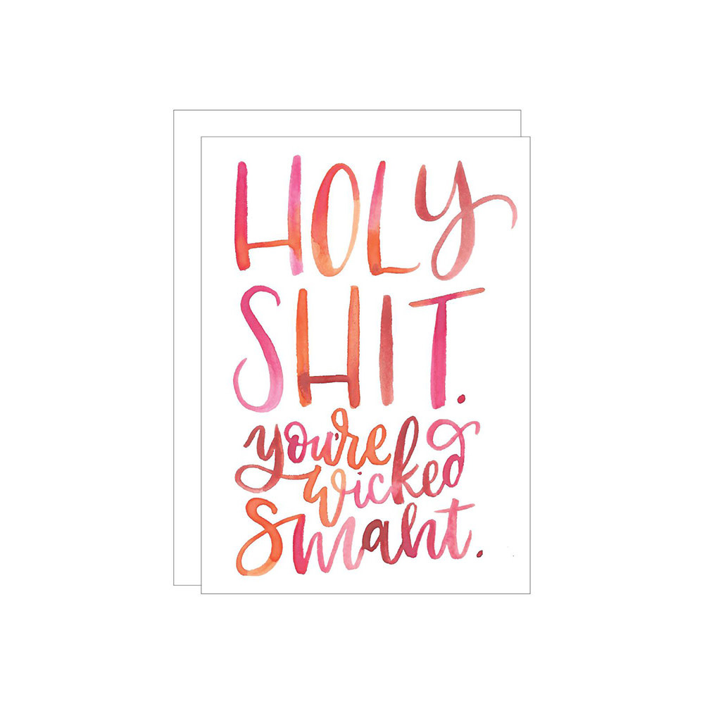 Katie Elizabeth Lettering + Design Katie Elizabeth Card - Wicked Smaht