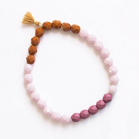 Nest Pretty Things Nest Pretty Things - Colorful Bead Tassel Bracelet - Lilac