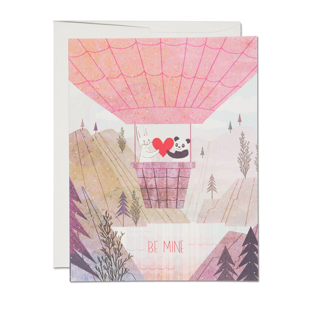 Red Cap Cards - Be Mine Balloon