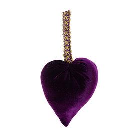 Your Heart's Content Your Heart's Content Handmade Velvet Hearts - Plum