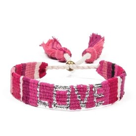 Love Is Project Atitlan LOVE Bracelet - Pink & Red