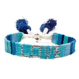 Love Is Project Atitlan LOVE Bracelet - Blue, Turquoise & Indigo