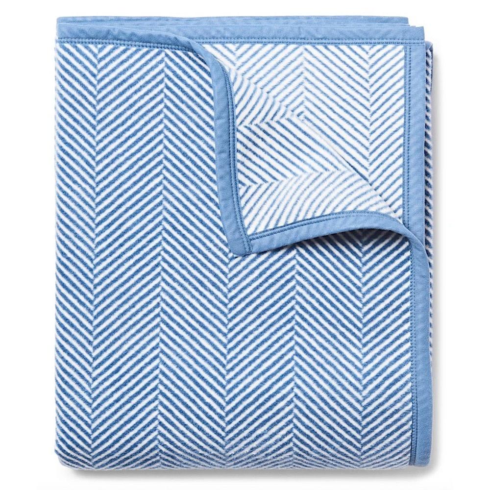 Chappywrap Blanket - Harborview Herringbone Light Blue