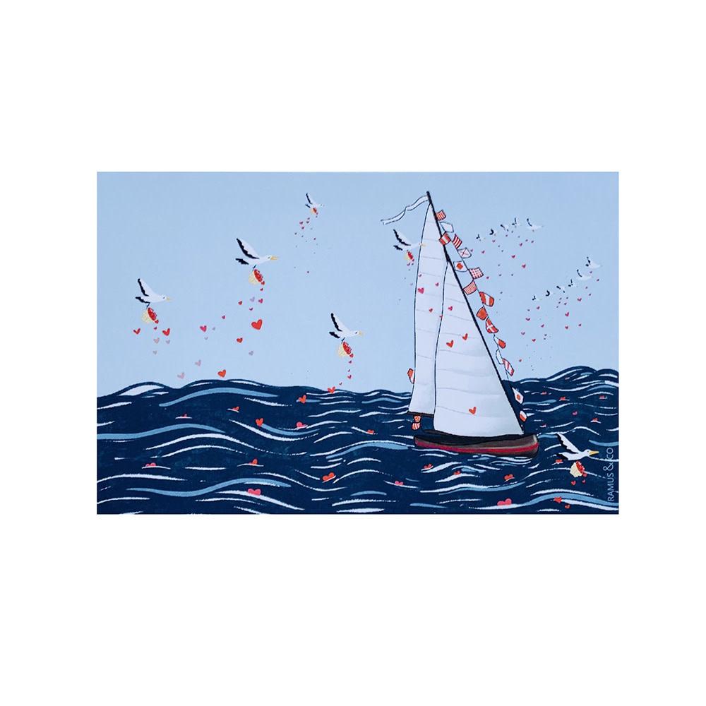 Ramus & Co Set of 8 Postcards - Seagulls Love