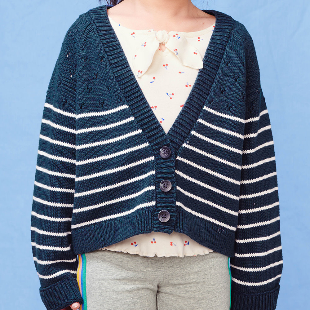 Tea Collection - Pointelle Sweater - Whale Blue