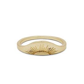 Pura Vida Pura Vida Rising Sun Ring - Gold