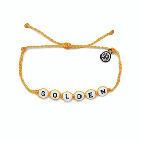 Pura Vida Pura Vida Golden Alphabet Bead Bracelet