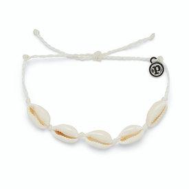 Pura Vida Pura Vida Knotted Cowries Bracelet - White
