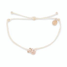 Pura Vida Pura Vida Koala Bracelet - White/Rose Gold