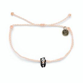 Pura Vida Pura Vida Panda Bracelet - Blush/Silver