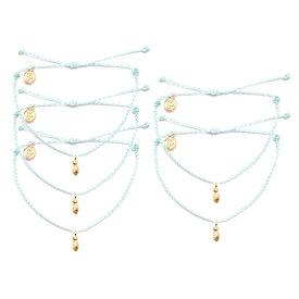 Pura Vida Pura Vida Pineapple Bracelet - Gold/Seafoam