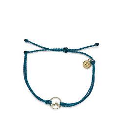 Pura Vida Pura Vida Sierra Charm Bracelet - Mediterranean Green/Gold