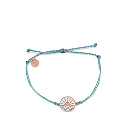 Pura Vida Pura Vida Sunrise to Sunset Bracelet - Smoke Blue/Rose Gold