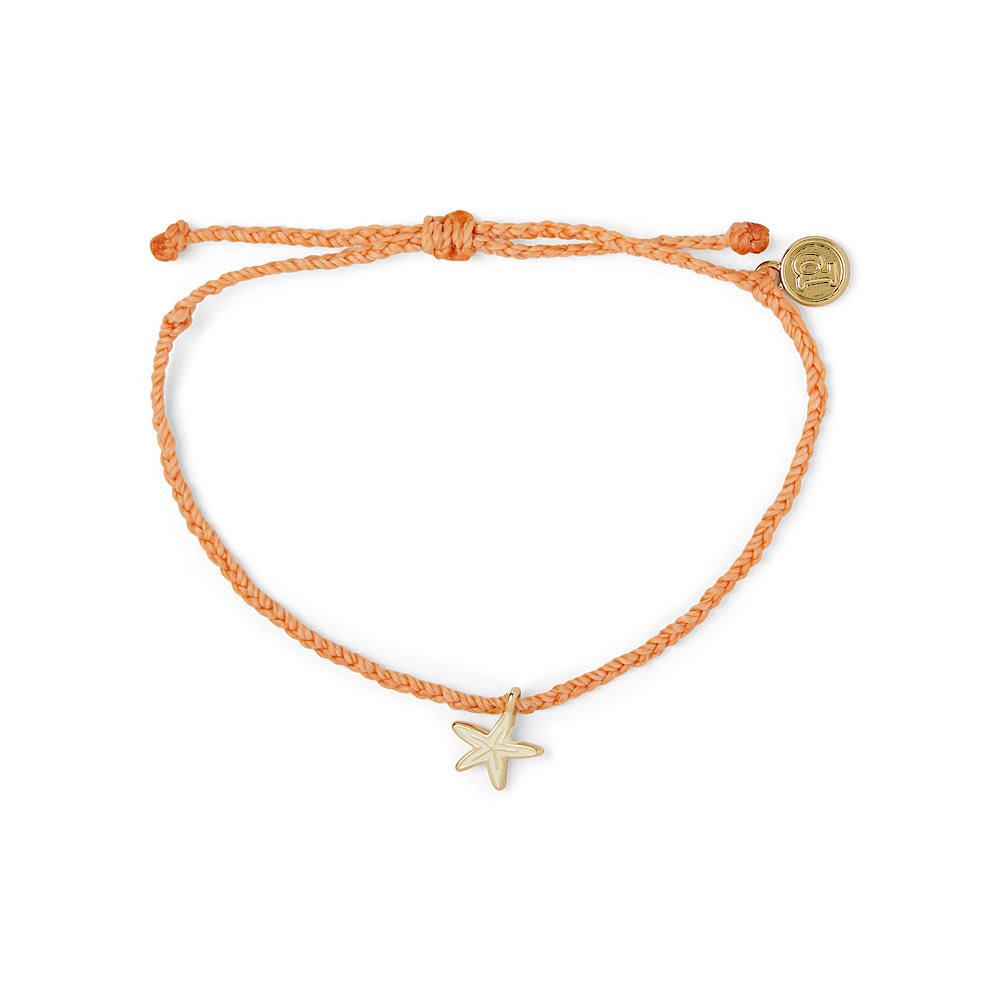 Pura Vida Charm Bracelet Gold Enamel Starfish/Coral