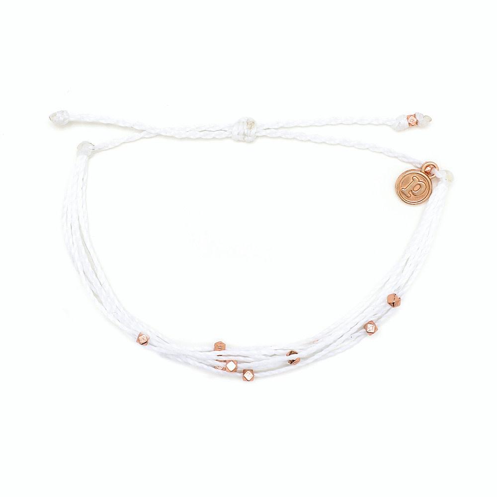 Pura Vida Bracelet Malibu - Rose Gold/White
