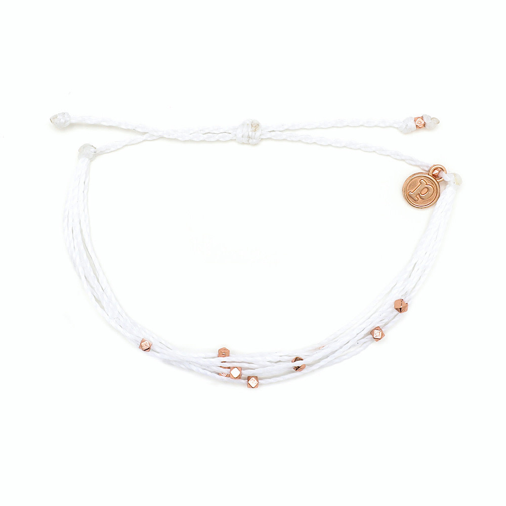 Pura Vida Pura Vida Bracelet Malibu - Rose Gold/White