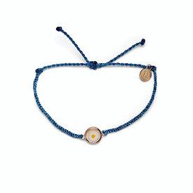 Pura Vida Pura Vida Meadow Bracelet - Rose Gold Charm - Denim