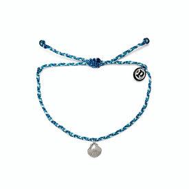 Pura Vida Pura Vida La Concha Bracelet - Silver Charm - Blue