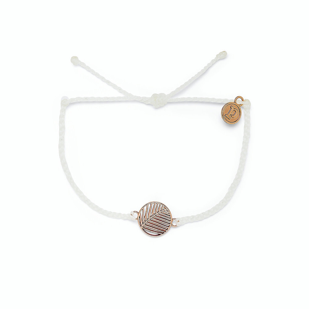 Pura Vida Pura Vida Havana Bracelet - Rose Gold Charm - White