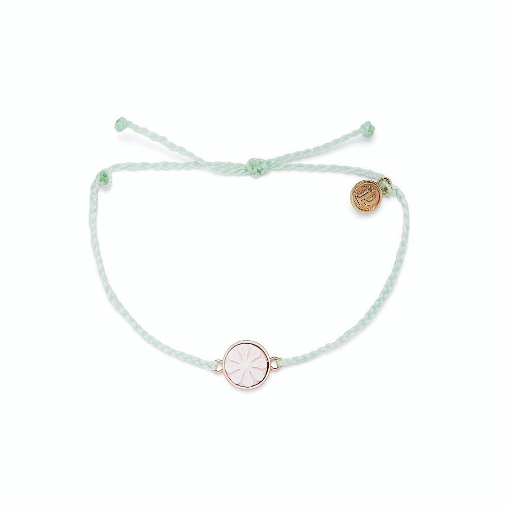 Pura Vida Pura Vida Cameo Bracelet - Rose Gold Charm - Winter Fresh