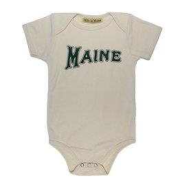 Milo in Maine Milo In Maine Baby Onesie - Maine Green/Natural Organic Cotton