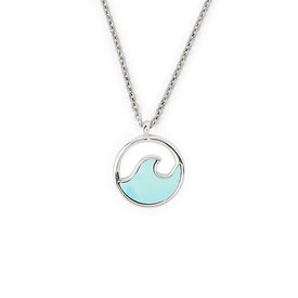 Pura Vida Pura Vida Stone Wave Necklace - Silver