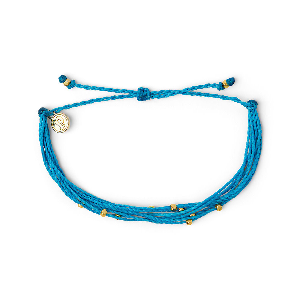 Pura Vida Bracelet Malibu - Gold/Neon Blue
